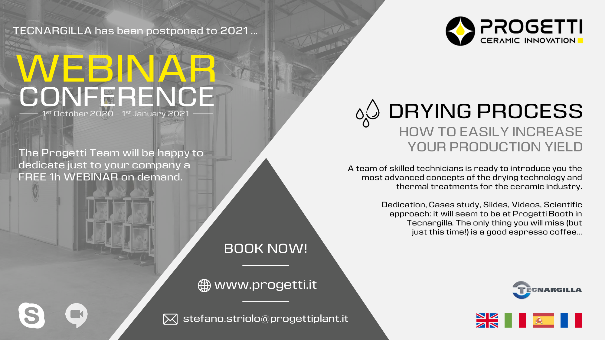book our webinar about ceramic industry and turn key solutions